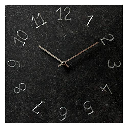 Black Metal Rustic Square Wall Clock 12-inch - Silent Non Ticking Gift for Home/Office/Kitchen/Bedroom/Living Room (Arrow Clock)