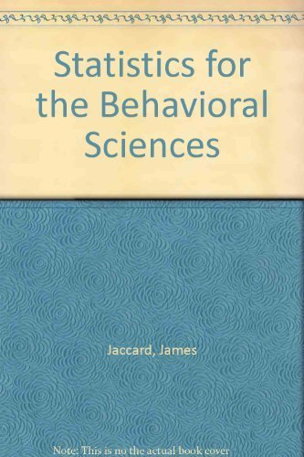 Statistics for the Behavioral Sciences: Study Guide