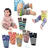 7 Pack Cute Baby Toddler Bear Leg Sleeve Warmers - Knee Socks Protector Warmer