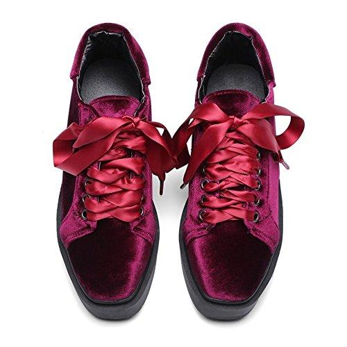 Piatta Pumps Moda Forma TAOFFEN Donna Sneaker Rosso RpqwnXtxn