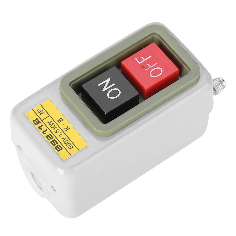 Interruptor de bot/ón de encendido//apagado de bloqueo autom/ático de 3P AC 380V BS211B