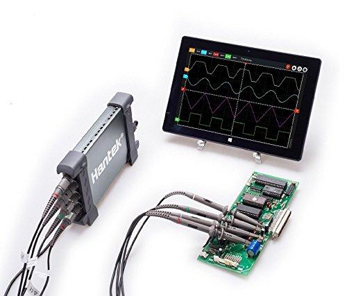 Hantek 6204BC Digital Oscilloscopes 200MHZ 1GSa/s 4CH Windows10 / 8/7 with USB Interface Probe Handheld
