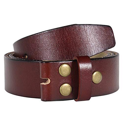 NPET Men's Genuine Leather Belt Full Grain Snap On Belts 1.5