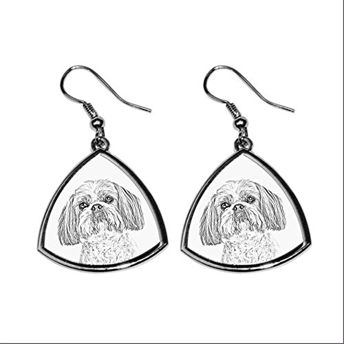 shih-tzu-collection-of-earrings-with-images-of-purebred-dogs-collection-de-boucles-doreilles