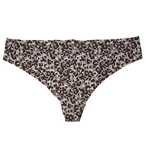Calvin Klein Women's Invisibles Thong Panty, Tactile Animal Print, X-Large