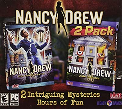 Nancy Drew - Alibi in Ashes & The Deadly Device 2-Pack (PC-DVD) (XP, VISTA, Windows 7, Windows 8) PC Detective Game