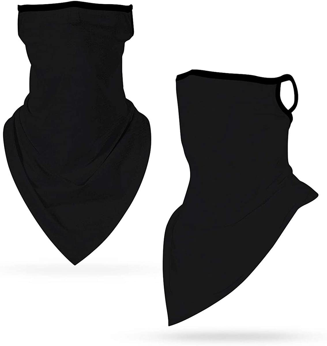 Bandana Neck Gaiter Balaclava Headwear, Ice Silk Cooling Sports Tube Mask Ear Loops Face Cover Scarf for Outdoor