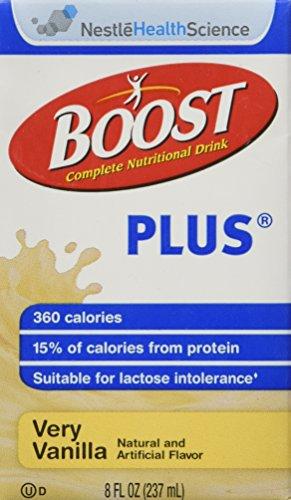 Nestle Boost Plus Very Vanilla 8oz Brikpaks 27/Case (Nestles Boost)