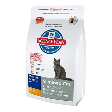 Hills Feline Mature 7+ Sterilised Cat Chicken Comida para Gatos - 300 gr