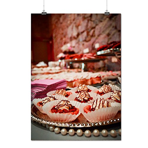 Sugar Cup Cakes Sweet Dessert Matte/Glossy Poster A2 (17x24 inches) | Wellcoda