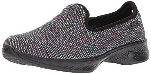 Skechers Performance Women's Go 4-14922 Walking Shoe,Black/Multi,5.5 M US