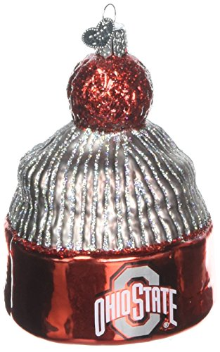 Old World Christmas Ornaments: Ohio State Beanie Glass Blown Ornaments for Christmas Tree (Ohio Holiday State Ornament)