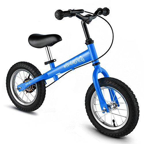 for Kids, No Pedal Traning Children Cycles with Adjustable Handlebar and Seat, Toddler Walking Bicycle with Brake (Pro-Blue) ()
