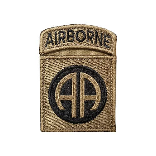 - 82nd Airborne Division with Airborne Tab Sewn Together - OCP Scorpion W2 Patch with Hook Fastener