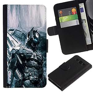 All Phone Most Case / Oferta Especial Cáscara Funda de cuero Monedero Cubierta de proteccion Caso / Wallet Case for Samsung Galaxy S3 III I9300 // FUTURE TECH BAT SOLDIER