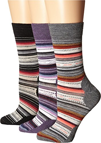 Smartwool Women's Margarita 3-Pack Medium Gray/Desert Purple/Charcoal Socks MD (Women's Shoe 7-9.5)