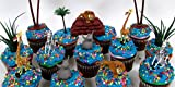 MADAGASCAR Birthday Cupcake Topper Set Featuring Madagascar Characters and Decorative Themed Accessories