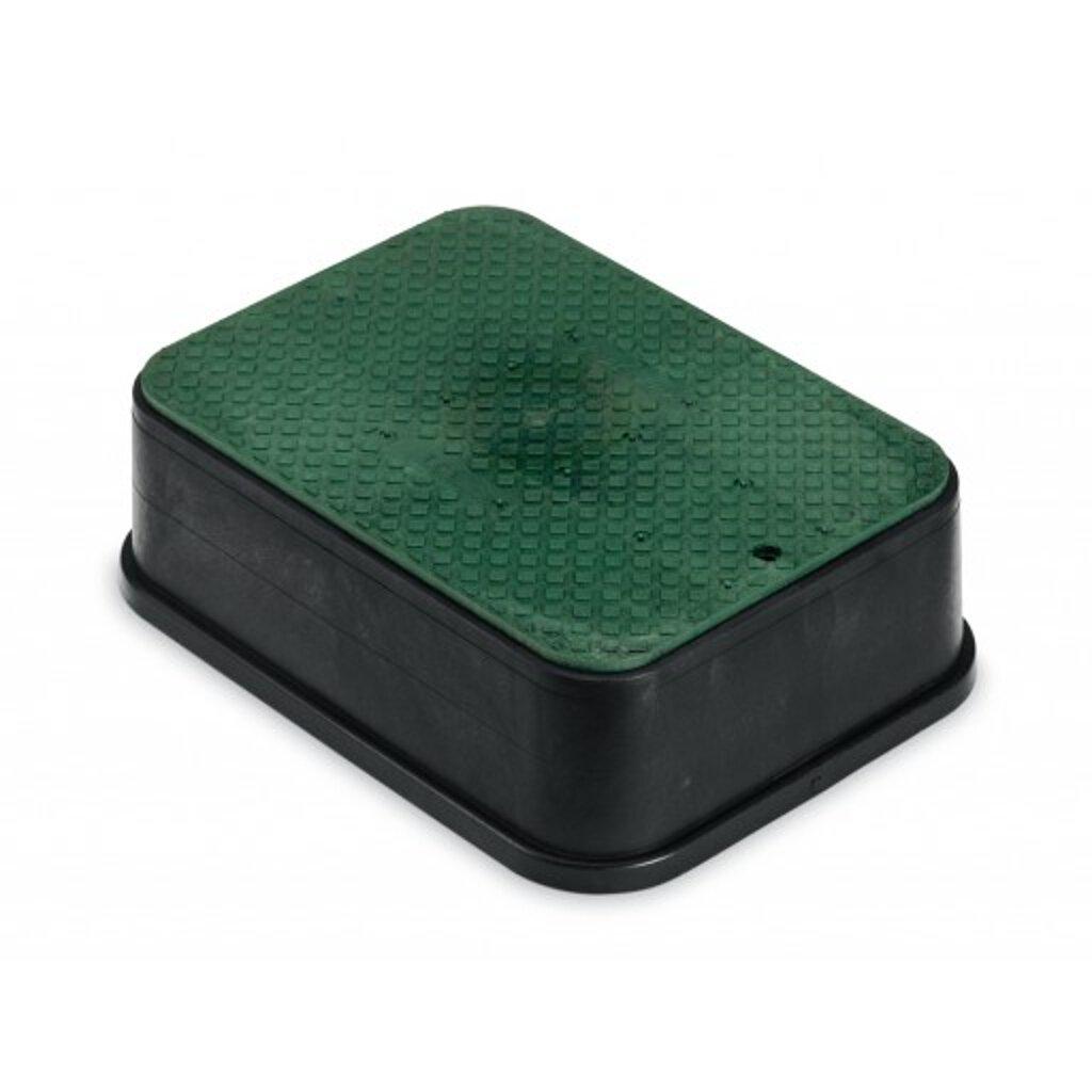Rainbird Jumbo Valve Box with Lid, Black, 6''