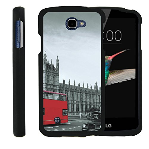 MINITURTLE Case Compatible w/LG Optimus Zone 3,LG Spree,LG K4,LG Rebel Phone Case, Perfect Slim Fit Snap on Case The Traveler Design Historic England