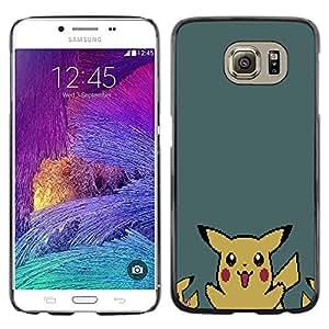EJOY---Cubierta de la caja de protección la piel dura para el / Samsung Galaxy S6 / --P1Kachu Pixel P0kemon