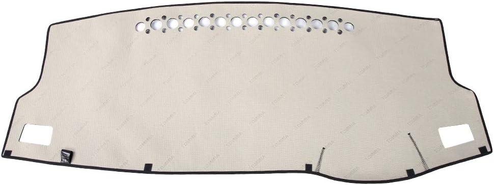 Corolla 14-18, Black Qiilu Dashboard Dash Mat Dashmat Sun Shade Non-Slip Pad Compatible with Toyota Corolla 2014-2018 Dashboard Cover Carpet