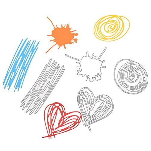 Doodle Dies (Doodle Cutting Dies Set Sketches Metal Stencil Template Block For DIY Paper Card)