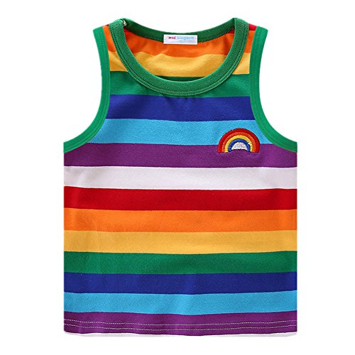LittleSpring Little Boys' T-Shirt Rainbow Size 4T Style-1