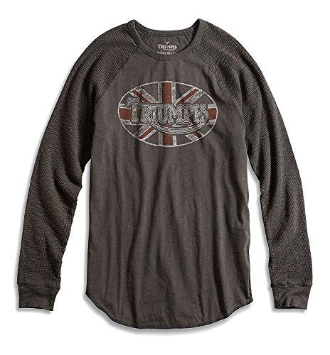 Shirt Motorcycle Triumph - Lucky Brand - Men's - Faded Black Triumph Motorcycle Thermal Shirt (Small)