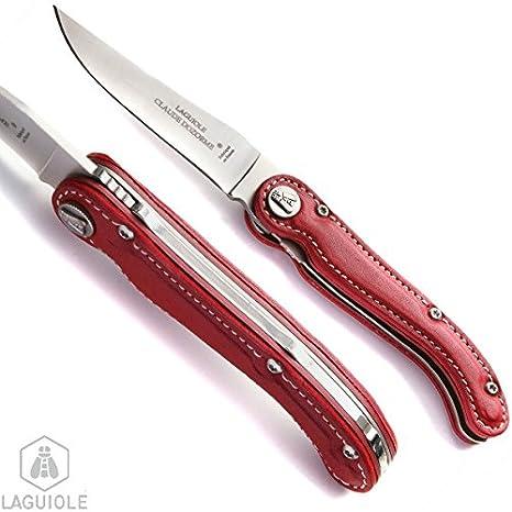 LAGUIOLE cuchillo Sellier Colección, mango rojo hoja acero o ...