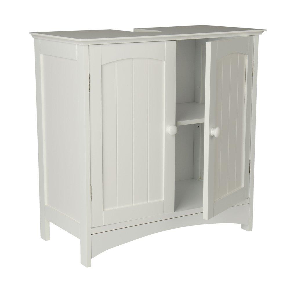 Großartig Waschtischunterschrank Holz MDF weiß 30 x 60 x 30 cm | Aussparung  CI72