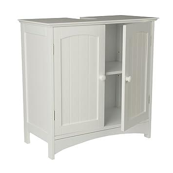 Waschtischunterschrank Holz MDF weiß 30 x 60 x 30 cm | Aussparung ... | {Waschtischunterschrank holz 52}