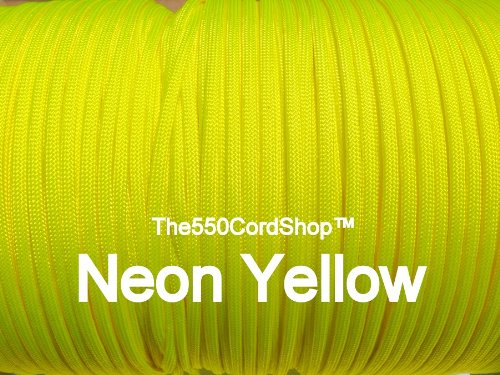 550 Paracord – Neon Gelb 100 FT