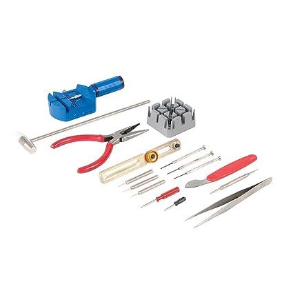 Silverline 870757 - Herramientas para reparación de relojes, 16 pzas (16 pzas)