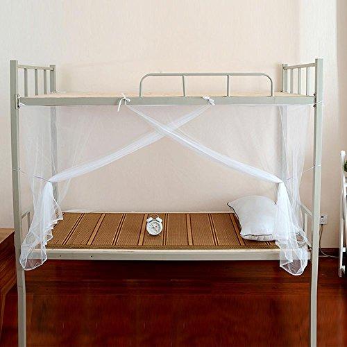 WXLAA Bunk Bed Single Bed Mosquito Net School Dormitory Dustproof Zipper Bed Net