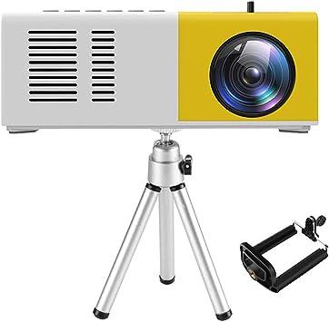 Proyector Portátil Mini, 1080P Full HD 3000 Lumen de 50000 Horas, Cine en Casa de 100 Pulgadas Soporta 1080P Compatible con TV Stick/ HDMI/ USB/ PS4/VGA/AV/Smartphone/Laptop: Amazon.es: Electrónica
