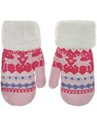 Toddler Kids Winter Warm Thick Full Finger Gloves...