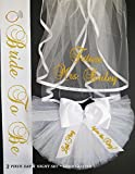 Bridal Shower Booty Veils - 3 piece PERSONALIZED Bachelorette Set, Hair Veil, Sash and Bikini Veil for only $75 (An $90.00 VALUE if purchased separately)