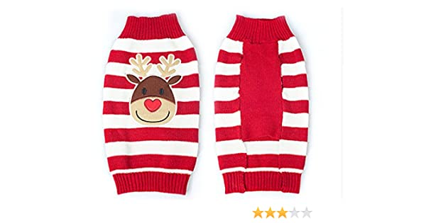 a7efb2fd04d0 Amazon.com   Ollypet Adorable Christmas Red Sweater Reindeer Knited ...
