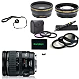 For Canon Rebel T3i: EF 24-105mm f/4L IS USM USA Pro Kit Lens and Filter Bundle Package Includes:+ 1x Canon EF 24-105mm