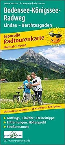 Bodensee Konigssee Radweg Lindau Berchtesgaden Leporello