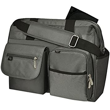 cb044616a72d Amazon.com   Fisher Price Deluxe Wide Opening Fast Finder Diaper Bag - Grey    Diaper Tote Bags   Baby
