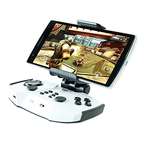 ooth Gaming Controller Via-Gamepad F2 for Android Smart Phone, iPhone and iPad, iOS Tablets, PC and Mac - White ()