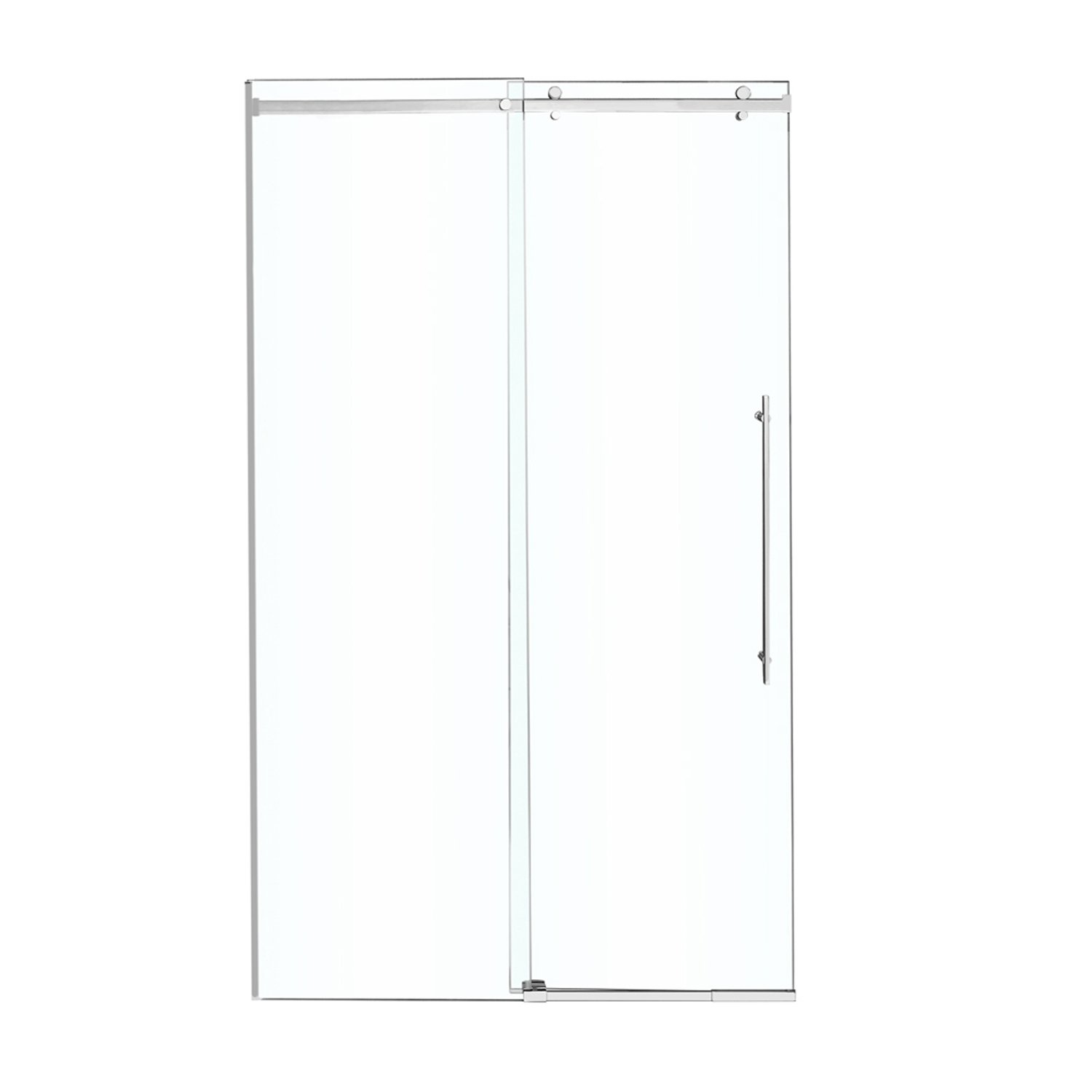 VIGO Luca 56 to 60-in. Frameless Sliding Shower Door with .375-in. Clear Glass and Chrome Hardware by Vigo (Image #8)