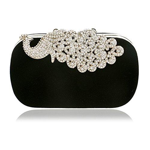 Bag SSMK Noir pour femme Pochette Evening 6UUwqZa8