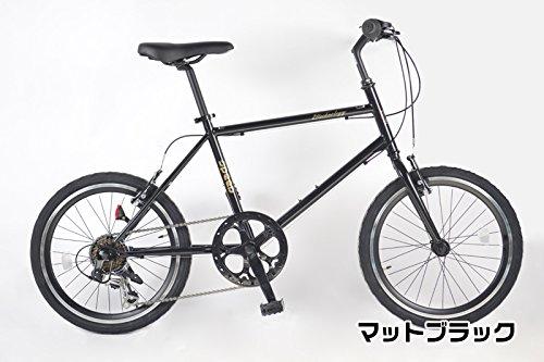 21Technology ミニベロ 20インチ クロスバイク CL20 シマノ製6段変速ギヤ付き (ブラック) B07DYQ1YF7