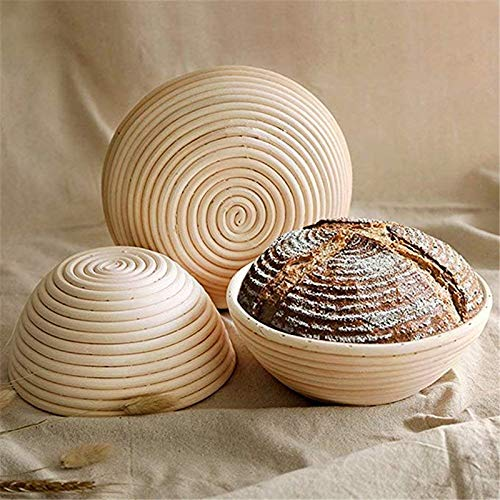 Best Quality - Baking & Pastry Tools - Natural Rattan Fermentation Wicker Basket bowl Country Baguette French Bread Mass Proofing Baskets Dough Banneton Baskets - by GTIN - 1 PCs