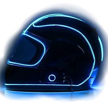 lightmode electron s helmet kit motorbike helmet light kit blue