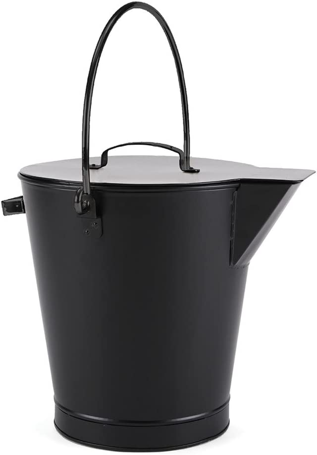 Minuteman International All Black Ash Bucket Pail