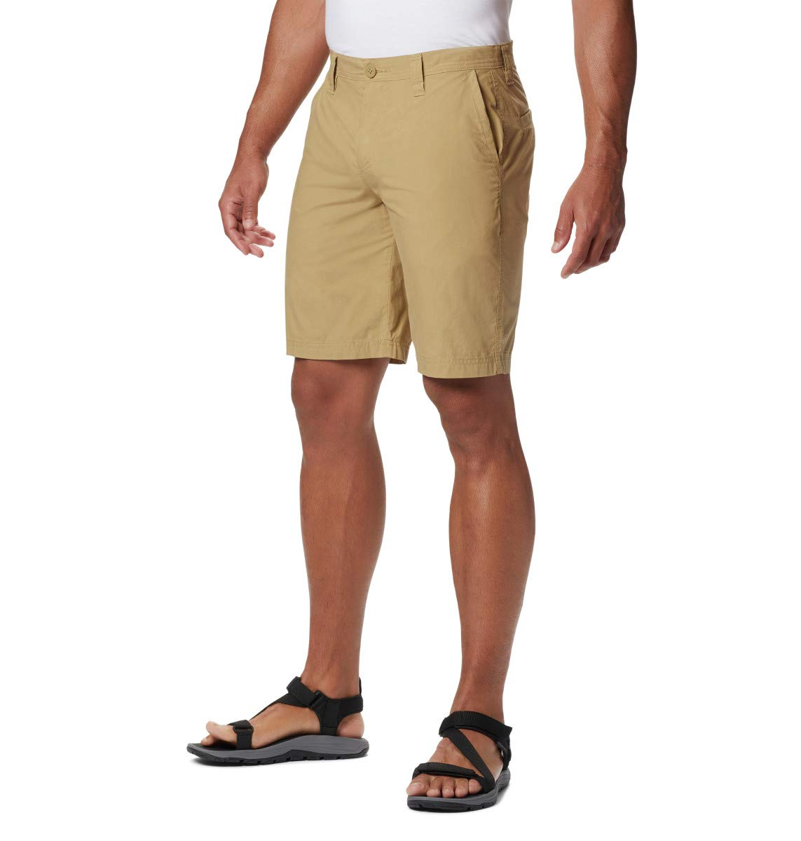 Columbia Big and Tall Men's Washed Out Chino Short, Crouton, 30x8 by Columbia