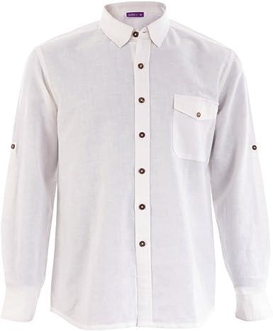 Living Crafts – Camisa de hombre de Bio de lino/algodón ...